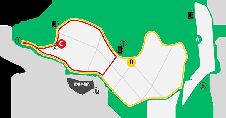 北山霊園ウォーキングマップ